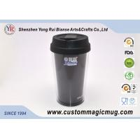 Wholesale ODM Reusable Fasion Office Coffee Double Wall Plastic Cup With Silicone Lid from china suppliers