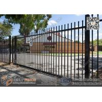 Wholesale Black Garrison Metal Fencing for sale 2100X2400mm | China Garrison Fence Supplier from china suppliers