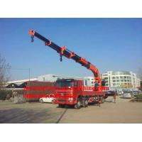 Wholesale Sinotruck Blue , Lifting capacity 8000KG/8T  TON 220HP Telescoping Boom Crane from china suppliers