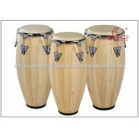 Wholesale Percussion Musical Conga Drum Instrument With True Skin Cow Heads Chrome Plated Hardware from china suppliers