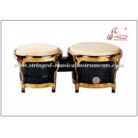 Wholesale Black Percussion Musical Instruments Wooden Bongo Drum With Gold Plated Hardware from china suppliers