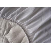 Wholesale Zippered Quilted Mattress Cover Double Beige Fire Retardant from china suppliers