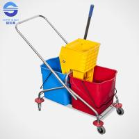 Wholesale 60L Side Press Wringer Industrial Mop Bucket with Smooth Surface from china suppliers