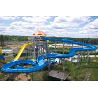 Wholesale Family Funny Raft Fiberglass Water Slide Blue 14 Height For 4 - 6 Person from china suppliers