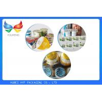 Wholesale Unprinted / Printed Aluminum Foil Lids , Fashion PP Cup Lid For Ice Cream from china suppliers