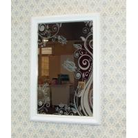 Wholesale Decorative pattern beveled edges frame mirror from china suppliers