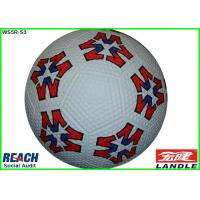 Wholesale Customize Adult Size Soccer Ball , Size 4 Indoor Football in White and Red from china suppliers