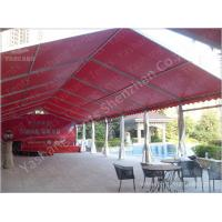 Wholesale Outdoor Red Aluminum Frame Fabric Tent Structures , Fabric Shelter Systems from china suppliers
