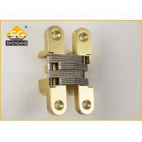 Wholesale Brass Chrome Invisible 180 Degree Hinges For Swinging Door / Cabinets from china suppliers