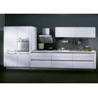 Wholesale Matt White Lacquer Kitchen Cabinets For Home / Hotel With Slider Basket from china suppliers