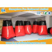 Wholesale Giant PVC Inflatable Sport Games Bunkers Red Barricades For Outdoor 1 * 1 * 1.6m from china suppliers