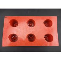Wholesale Customized size / logo / color silicone cake mould, 6 round cavities cake mould from china suppliers