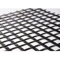 Wholesale 80KNM Black Fiberglass Geogrid from china suppliers