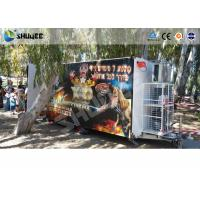 Wholesale Convenient Mobile Trailer 5D Movie Theater , Genuine Leather Motion Cinema Chair from china suppliers