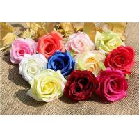 Wholesale UVG FBL02 silk roses artificial flower head for wedding flower wall backdrop use from china suppliers