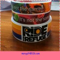 Wholesale new design wide hot silicone bracelet band with CMYK printing from china suppliers