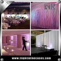 Quality China wholesale pipe and drape telescopic crossbar wedding stage backdrop for sale