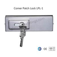 Wholesale Single Throw Frameless Glass Door Hardware , Corner Patch Lock With Strike Plate from china suppliers
