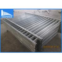 Wholesale Flat Top Steel Panel Fence Powder Coated With Hot Dipped Galvanized Material from china suppliers