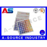 Buy cheap Holographic Sticker Printing , Custom Holographic Stickers For Chemical Box from wholesalers