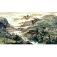 Wholesale Water base chinese traditional landscape watercolour wall decoration painting from china suppliers