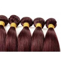 Quality Red Straight Colored Human Hair Extensions Remy Brazilian Hair Weave for sale