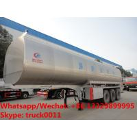 Wholesale high quality and good price 30000 Liters Tri-axles stainless steel fresh milk trailer for sale, liquid food tank trailer from china suppliers
