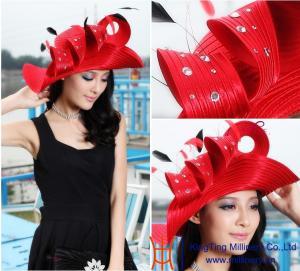 China New Design Women satin church hats wholesale / wholesale church hats / church hat on sale