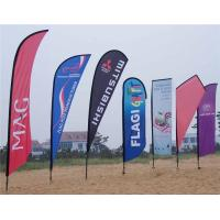 Wholesale Eye Catching Teardrop Beach Advertising Flag Banners , Custom Made from china suppliers