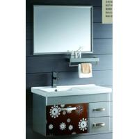 Wholesale Soft close hinge Stainless Steel Bathroom Base Cabinet 900 * 600 Mirror    from china suppliers