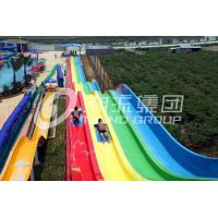 Quality Speed Water Slide For Adults / OEM Tall Fiberglass Water Slides for Giant Water Park for sale