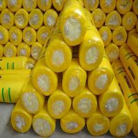 Wholesale Glass wool blanket with Aluminium foil with Yellow PE thermal shrinkage packing from china suppliers