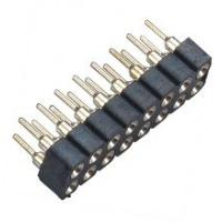 Quality 2.54 Mm Machined Female Header WCON Connector 180°DIP PPS 30%GF for sale