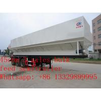 Wholesale high quality 45cbm feed transportation trailer for sale, CLW brand 20tons farm-oriented electronic system feed trailer from china suppliers