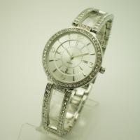 Wholesale Ladies Jewelry Bracelet Watch siliver with diamond on strap Alloy strap from china suppliers
