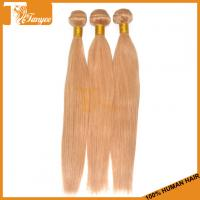 Wholesale 5A Honey Blonde Indian Hair Weave Straight Blonde Human Hair Weave from china suppliers
