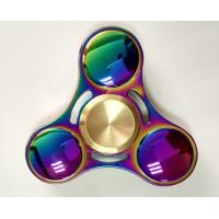 2017 Newest 2 Colors Rainbow Titanium Alloy Pocket toys Tri Hand Spinner Fingertips Spiral Fingers Gyro