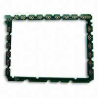 Quality Multilayer PCB with Gold Plating + HASL, Made of FR4 for sale