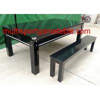 Wholesale 7FT Pool Game Table Dining Table Bench Wood Dinning Billiard Table from china suppliers