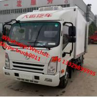 Wholesale Factory wholesale good price Dayun brand 4*2 LHD 4tons refrigerator van truck for sale, Dayun reefer van truck from china suppliers