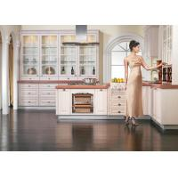 Wholesale White Oak Solid Wood Kitchen Cabinets Wood Frame With Glass Doors Modern Design from china suppliers