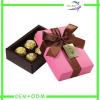 Wholesale Ribbon Collapsible Chocolate Gift Boxes , rectangle chocolate packaging box from china suppliers