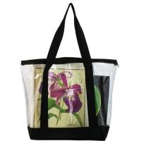 Wholesale Large Shiny PVC Plastic Bag / Plastic Tote Bag with Zipper Closure from china suppliers