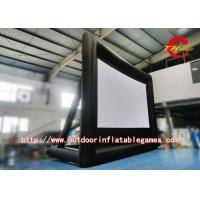 Wholesale Black Inflatable Outdoor Movie Screen , Inflatable Movie Projection Screen from china suppliers