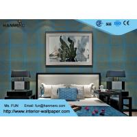 Wholesale Blue And Golden High Grade Bronzing Modern Removable Wallpaper Non Woven Wallcovering from china suppliers
