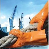 Buy cheap Anti Slip Industry Safety Working Gloves Orange With PVC Coated from wholesalers