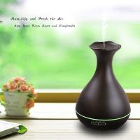 Quality Aromatherapy Essential Oil Diffuser 400ml Wooden Aroma Mist Humidifiers with Mood Light for sale