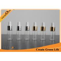 Wholesale 5ml Clear E-cig Liquid Bottles Pharmaceutical Glass Vial With Gold / Sliver Aluminum Dropper from china suppliers