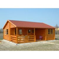 Wholesale One Floor Outdoor Wooden House In 36mm 72mm 110mm Wall thickness from china suppliers