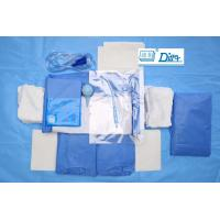 Wholesale Breathable SMMS Disposable Surgical Packs , EO Sterile C Section Drape from china suppliers